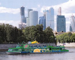 Реклама на теплоходе в Москве